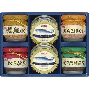 ニッスイ さけ缶詰・びん詰 BS-30【しゃけ缶 ご飯のお供 つくだに 詰め合わせ つめあわせ 日本産 国産 お取り寄せ グルメ おいしい 美味しい うまい】[tr]