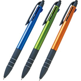 【単品/色指定不可】 タッチペン付3色ボールペン SC-1804【おしゃれ かわいい 可愛い 女性 男性 ipad iphone きれいに書ける かきやすい 書きやすい 黒 記念品 ボールペン タブレット スマートフォン スマホ ほそい 多機能】