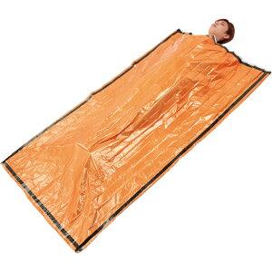 静音アルミ寝袋(オレンジ) ST-52 【防災グッズ ぼうさい 非常時 災害時 避難所生活 遭難 備え 寒さを凌ぐ 風を凌ぐ エマージェンシー 簡易寝袋】