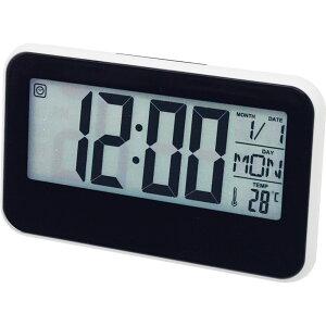 大型液晶画面卓上クロック GF-503【置き時計 デジタル おしゃれ うるさくない シンプル かっこいい 電池式 おすすめ ひかる 目覚まし時計 アラームクロック 置時計 温度 湿度 北欧】[tr]