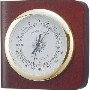 エンペックス カスタム温・湿度計 TM-681 【インフルエンザ 熱中症 正確 シンプル 見やすい 温度計 室温 時計 アナログ】[tr]