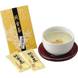 純金茶 J-10【販促 ばらまき ノベルティ おちゃ 金箔入り 梅茶 スティックタイプ インスタント 2個入】