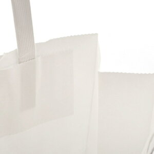 無料紙袋手提げ袋白無地32cm高【5400円以上で送料無料イベント大会賞品パーティー持ち帰り用袋マチ広収納白激安手提げ紙袋法事引き出物結婚式】