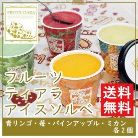 【送料無料】 フルーツティアラ アイス〈レッド〉 FT-R 【ソルベ フルーツ さっぱり いちご パイン みかん 青りんご 冷たい カラフル こども】