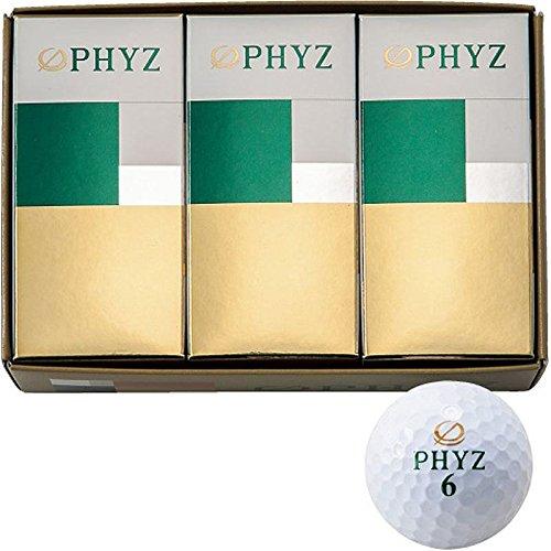 【在庫限り】BRIDGESTONE(ブリヂストン) PHYZ ゴルフボール ホワイト ハーフダース PZWY ホワイト