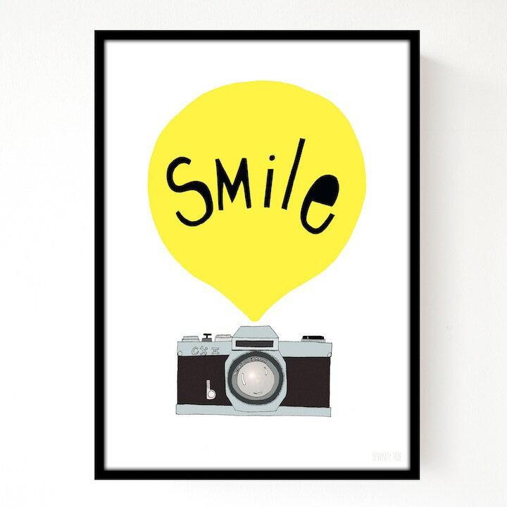 SEVENTY TREE | SMILE YELLOW | アートプリント/ポスター (30x40cm)