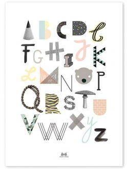 ANNY WHO | ABC POSTER | Art print / poster poster (50x70cm)