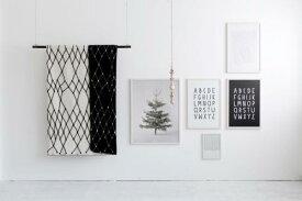 bastisRIKE|THEGRID-WOOLBLANKET(black&white)|白黒ブランケット