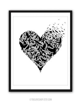 THE LOVE SHOP | BE FREE | A3 art print / poster