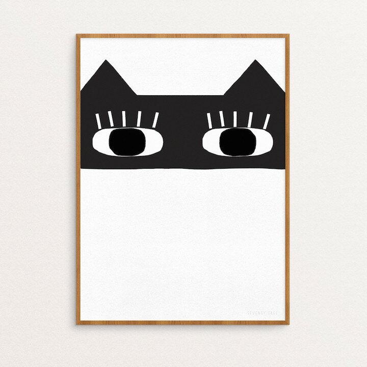 【SALE セール】SEVENTY TREE | CAT BANDIT PRINT | 30x40cm アートプリント/ポスター