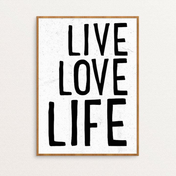SEVENTY TREE | LIVE LOVE LIFE | 30x40cm アートプリント/ポスター