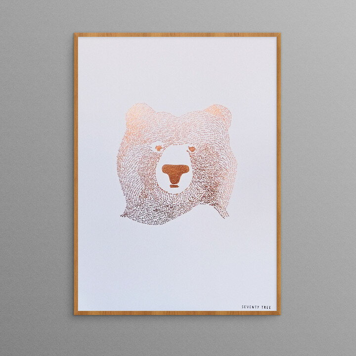 SEVENTY TREE | BEAR OF FEW WORDS (copper foil) | A4 アートプリント/ポスター