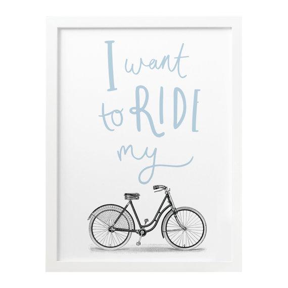OLD ENGLISH CO. | RIDE MY BIKE PRINT - BIKE/CYCLING PRINT (storm/white background) | A4 アートプリント/ポスター【ロンドン 北欧 シンプル インテリア】