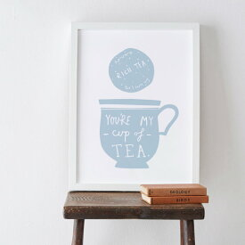 【在庫残り1】OLD ENGLISH CO. | MY CUP OF TEA PRINT (storm/white background) | A4 アートプリント/ポスター