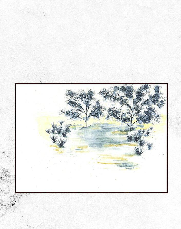 【SALE セール】TRINE HOLBAEK | A LITTLE QUIET PLACE | アートプリント/ポスター (50cmx70cm)