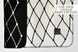 bastisRIKE|THEGRID-COTTONBABYBLANKET(blackandwhite)|ベビーブランケット【75x100cm】