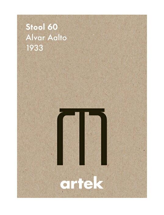 ARTEK | STOOL60 BK | アートプリント/ポスター (50x70cm)