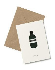 【エントリーでポイント10倍】KARTOTEK COPENHAGEN | GREETING CARD (Bottle) | グリーティングカード