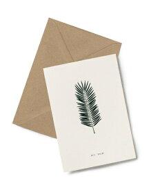 【エントリーでポイント10倍】KARTOTEK COPENHAGEN | GREETING CARD (Palm) | グリーティングカード