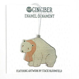 GINGIBER | POLAR BEAR ENAMEL ORNAMENT | オーナメント