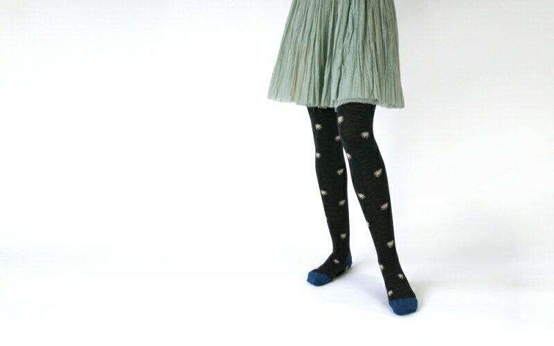 KURI BOTELLA (クリ ボテラ) | Azami (dark gray) | タイツ