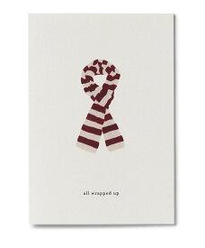 【エントリーでポイント10倍】KARTOTEK COPENHAGEN | GREETING CARD「all wrapped up」(SCARF) | グリーティングカード