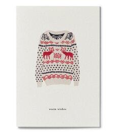 【エントリーでポイント10倍】【在庫残り1】KARTOTEK COPENHAGEN | GREETING CARD「warm whises」(X-MAS SWETER) | グリーティングカード