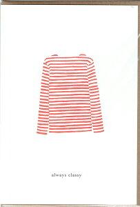 KARTOTEK COPENHAGEN   GREETING CARD「always classy」(SWEATER RED)   グリーティングカード
