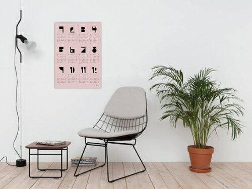 banum | TYPE WALL CALENDAR 2018 (pink) | A2 カレンダー/ポスター