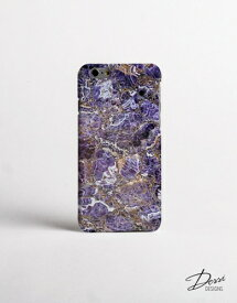 【メール便送料無料】DESSI DESIGNS | PURPLE MARBLE | iPhone 7/8ケース【スマホケース アイフォン】