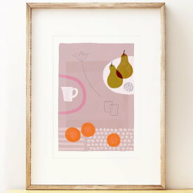 SHAPE COLOUR PATTERN | Still Life with Yellow Pears - contemporary art | A3 アートプリント/ポスター【北欧 シンプル モダン インテリア おしゃれ】