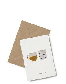 【エントリーでポイント10倍】KARTOTEK COPENHAGEN | GREETING CARD「i'm here for you」(TWO CUPS) | グリーティングカード