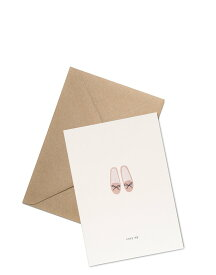 【エントリーでポイント10倍】KARTOTEK COPENHAGEN | GREETING CARD「cozy up」(SLIPPERS) | グリーティングカード