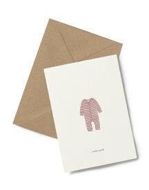 【エントリーでポイント10倍】KARTOTEK COPENHAGEN | GREETING CARD「hello world」(Baby Onesie Ochre) | グリーティングカード