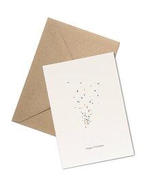 【エントリーでポイント10倍】KARTOTEK COPENHAGEN | GREETING CARD「happy birthday」(Confetti) | グリーティングカード