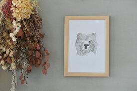 SEVENTYTREE|BEAROFFEWWORDS|A4アートプリント/ポスター【UK北欧白黒モノクロシンプルおしゃれ】