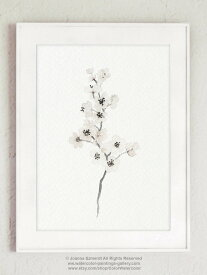 【エントリーでポイント10倍】COLOR WATERCOLOR   Cherry Blossom White Art Print #2   A4 アートプリント/ポスター【メール便送料無料 北欧 シンプル おしゃれ】