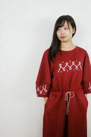 "rikolekt   ""EMBLEM DRESS"" (red)   ワンピース【送料無料 リコレクト レッド 赤 ワンピース】"