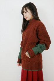 rikolekt   RELIEF SWEATER (brown)   セーター【送料無料 リコレクト ブラウン】