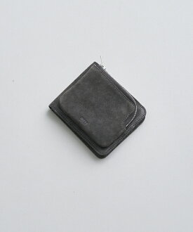 REN スモーク・外ポケウォレット(darkgray) レザー財布【送料無料レンレザーシンプルコンパクトダークグレーおしゃれ】