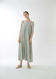 """KELEN (ケレン) | Double Strap Dress ¥""Finn¥"" (mint green) | ストラップドレス【無地 シンプル レディース カジュアル サテン】"""