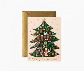 RIFLE PAPER CO.   TRIMMED TREE デコレーションツリー (GCX064)   クリスマス グリーティングカード