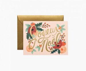 RIFLE PAPER CO.   JOYEUX NOEL ジュワイユ・ノエル (GCX029)   クリスマス グリーティングカード