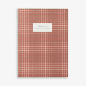 【エントリーでポイント10倍】KARTOTEK COPENHAGEN | LARGE NOTEBOOK CHECK (brick red) | ノートブック【北欧 デンマーク シンプル】