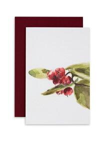 ASHFORTH PRESS   WINTERGREEN CARD   グリーティングカード【メール便配送OK 水彩 シンプル 動物 アニマル クリスマス】