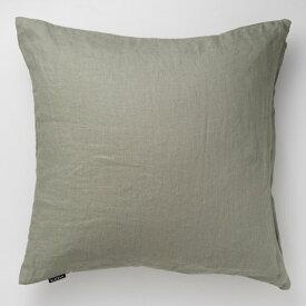 KLIPPAN (クリッパン)   ウォッシュドリネン (グリーン)   クッションカバー (50x50cm)【北欧 リビング おしゃれ 麻】