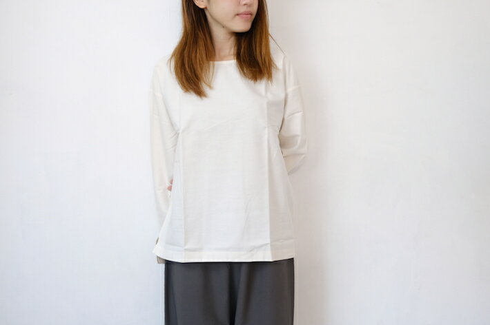 【SALE セール】me. | コットンネルプルオーバー(ivory) | トップス