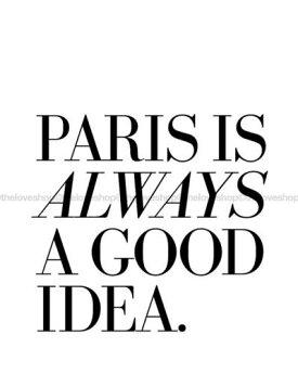 THELOVESHOP|PARISISALWAYSAGOODIDEA|A4アートプリント/ポスター