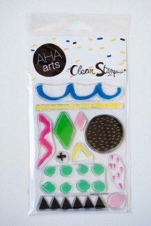 AHA arts by ASHLEY GOLDBERG | PAINTERLY ShaPES | Stamp set