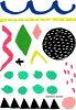 啊哈的阿什莉 · 戈德堡艺术 | 绘画的形状 | 邮票一套